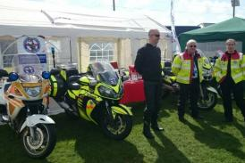 Blood bikers enjoying the sun