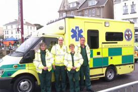 Some of our DFW Volunteer first aider team on call on Seaton sea front.
