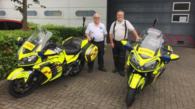 Receiving two new GTR1400 bikes