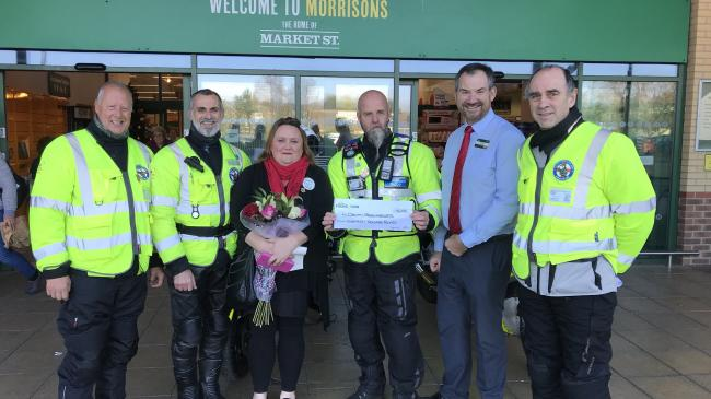 Morrisons Foundation awarding a £18,000 grant to Devon Freewheelers