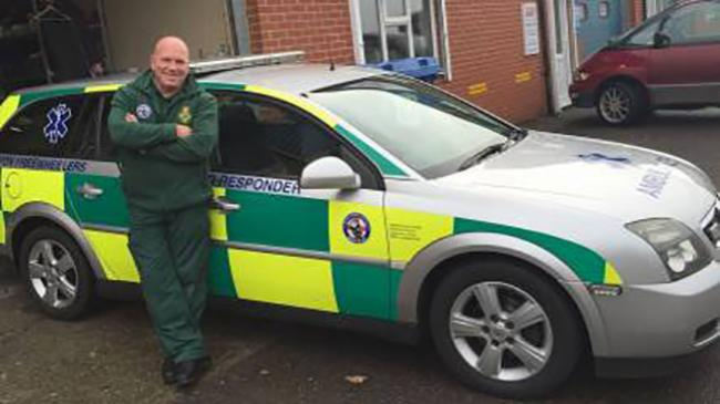 Daniel Lavery with one of the RRV vehicles in Honiton